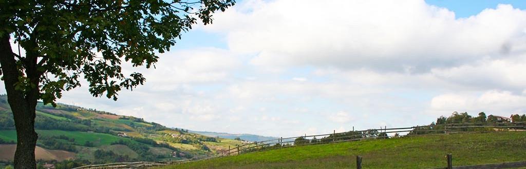 Un panorama della Val Tidone